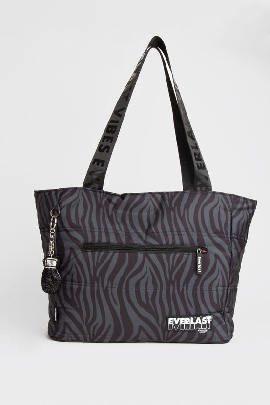 Bolso Tote Quilted Queen Gris Everlast