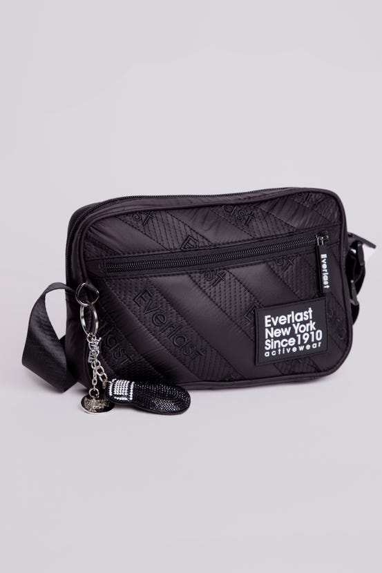 Bolso Party Quilted Letter Negro Everlast