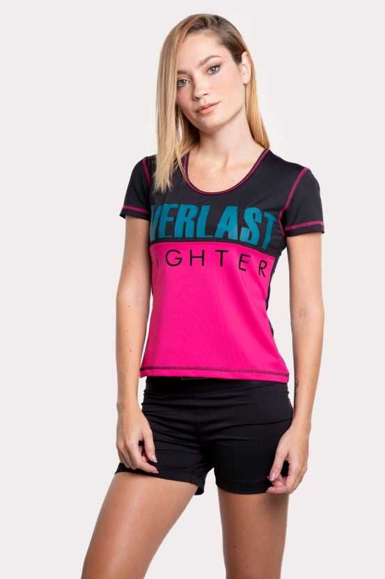 Polera M/C Cross Guinda Everlast