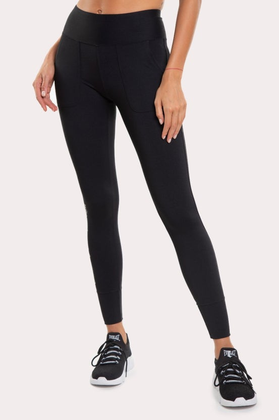 Legging Long Basic Puño Negro Everlast