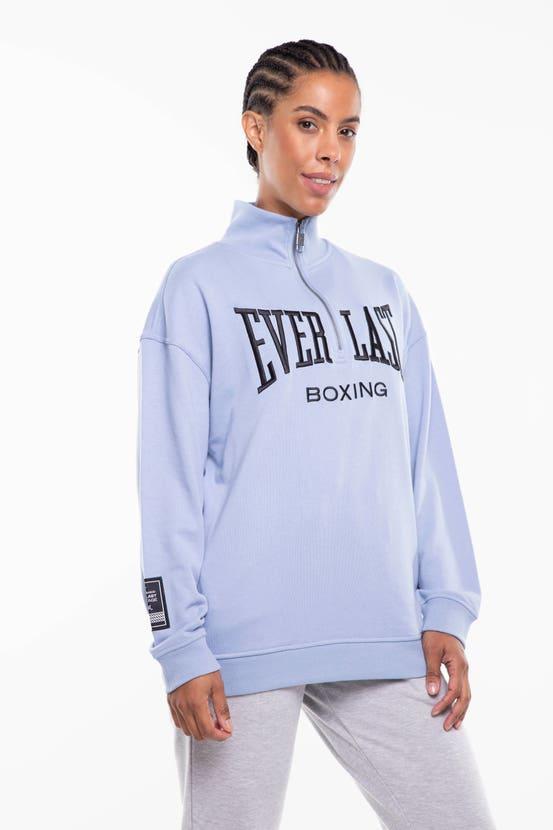 Poleron Half Zip New Jersey Azul Everlast